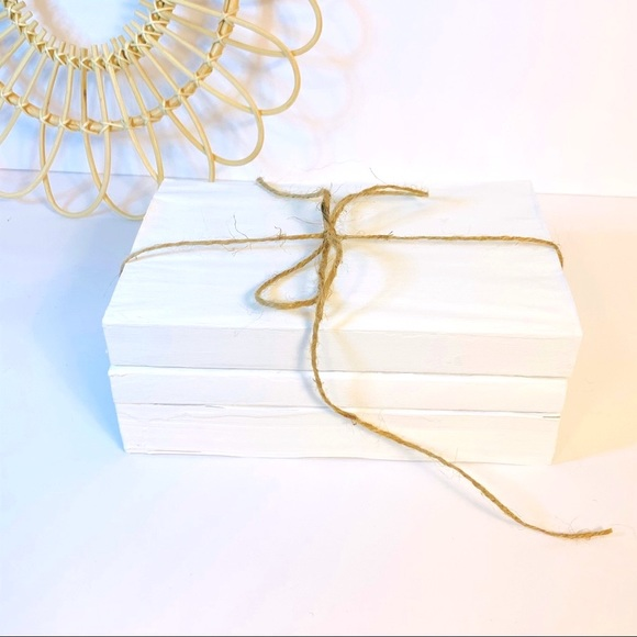 Vintage | Decorative Painted Stacked Books